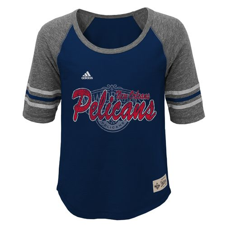 adidas™ Girls' New Orleans Pelicans Hi-Lo T-shirt