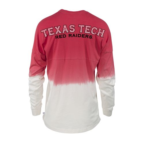 NCAA Women's Texas Tech University Ombré Tribal Football T-shirt