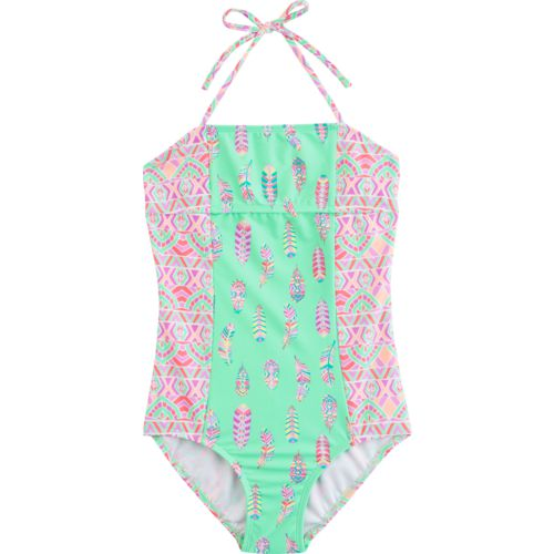 O'Rageous Kids Girls' Bohemian Princess 1-Piece Swimsuit