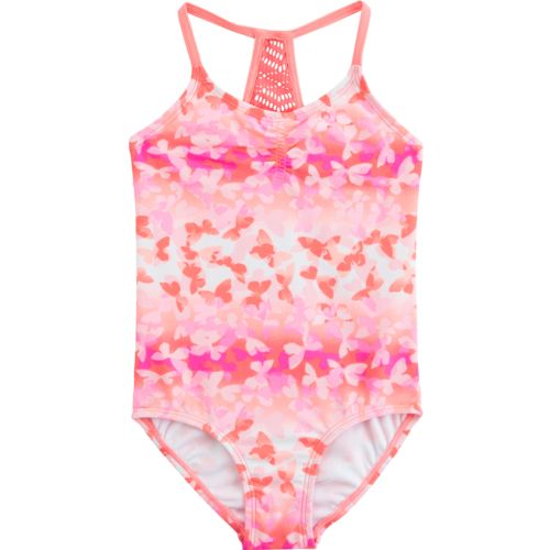 O'Rageous Kids Girls' Butterfly Away 1-Piece Swimsuit