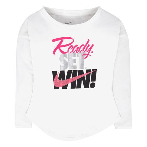 Nike Girls' Ready Set Win Modern Long Sleeve T-shirt