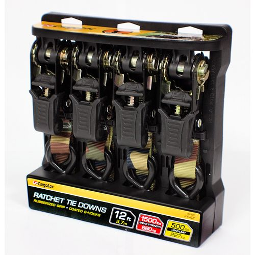 CargoLoc 12' Camo Ratchet Tie-Downs 4-Pack - view number 2