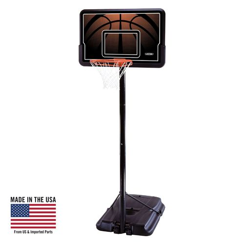 "Display product reviews for Lifetime 44"" Polyethylene Portable Basketball Hoop"