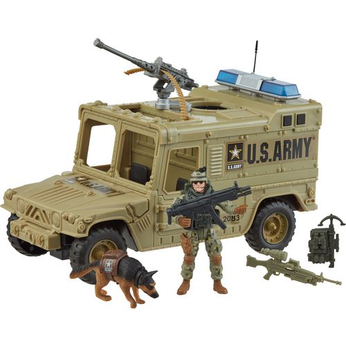 Display product reviews for Excite U.S. Army Power Vehicle Playset