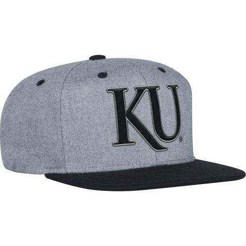 adidas Men's University of Kansas 2-Tone Tonal Flat Brim Snapback Cap