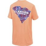 New World Graphics Women's Clemson University Comfort Color Puff Arch T-shirt - view number 2