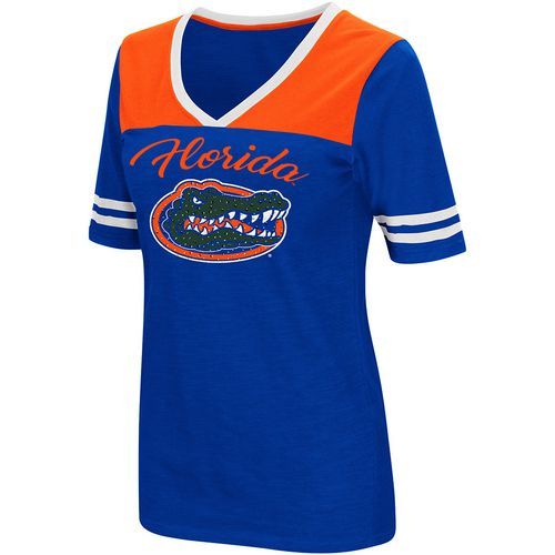 Colosseum Athletics Women's University of Florida Twist 2.1 V-Neck T-shirt