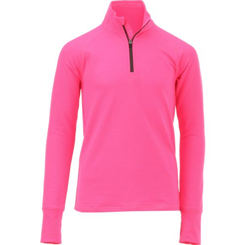 BCG Girls' Cold Weather 1/4 Zip Mock Neck Pullover