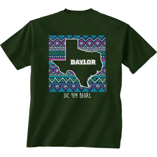 New World Graphics Women's Baylor University Terrain State T-shirt - view number 1