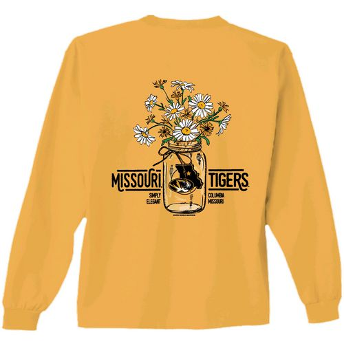 New World Graphics Women's University of Missouri Bouquet Long Sleeve T-shirt
