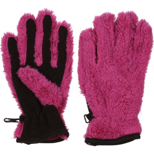 Magellan Outdoors Girls' Teddy Bear Fleece Gloves