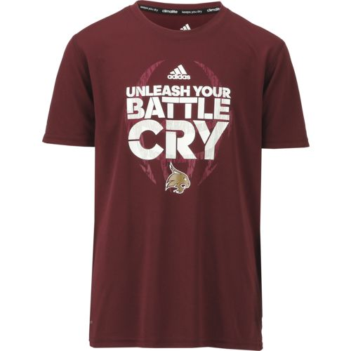 adidas Boys' Texas State University Sideline Mantra Short Sleeve Clima T-shirt