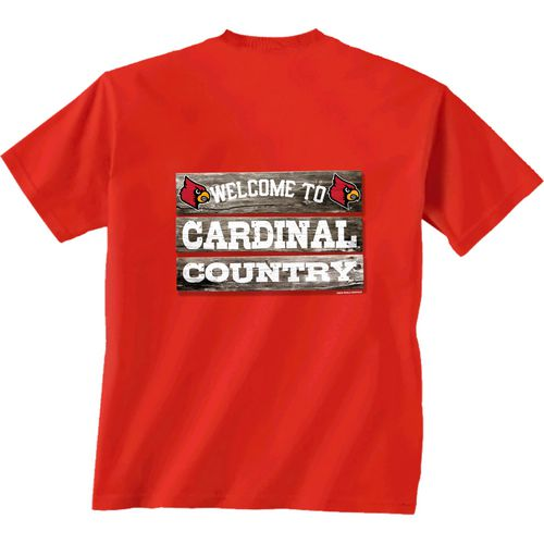 New World Graphics Men's University of Louisville Welcome Sign T-shirt