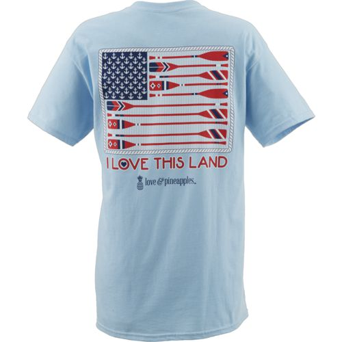 Love & Pineapples Women's I Love This Land Short Sleeve T-shirt