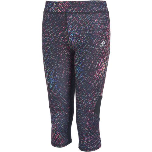 adidas Girls' climalite Alpha Printed Capri Tight