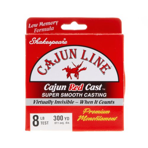 Display product reviews for Cajun Line Red Cast 8 lb. - 300 yards Monofilament Fishing Line