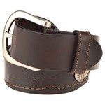 Browning Men's Deer Ornament Stitched Leather Belt