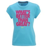 Nike Girls' Better/Great Short Sleeve T-shirt