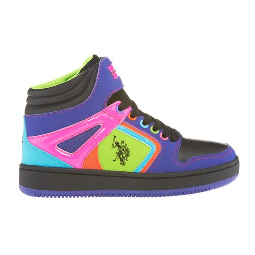 U.S. Polo Girls' Tamikah High-Top Athletic Lifestyle Shoes