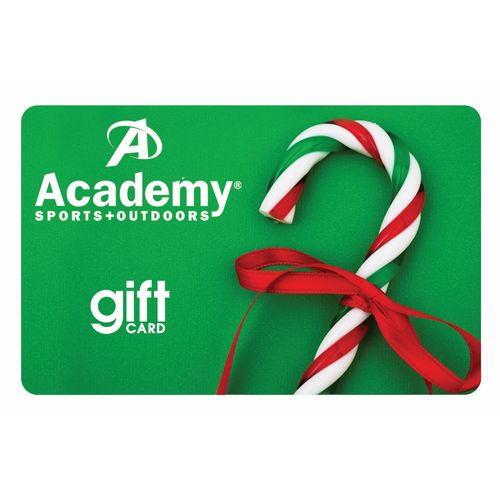 Academy Holiday Gift Card -Candy Cane Design