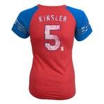 adidas Girls' Texas Rangers Ian Kinsler #5 Fashion Jersey T-shirt