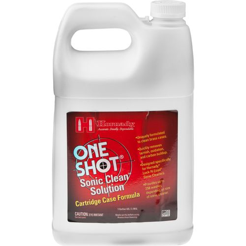Hornady One Shot® Sonic Clean™ 1-Gallon Cartridge Case Formula Solution