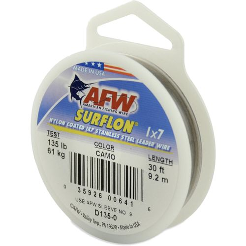 American Fishing Wire Surflon 40 lbs - 30 ft Leader Wire