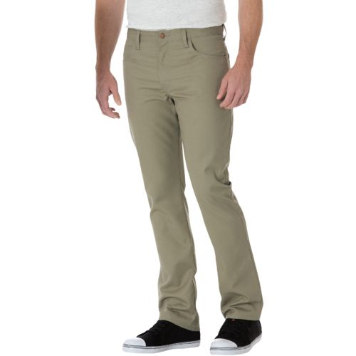 Dickies Men's Slim Fit Straight Leg 5-Pocket Twill Work Pant