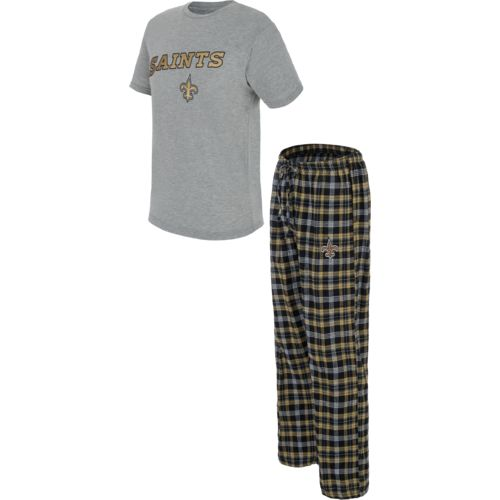 Concepts Sport Men s New Orleans Saints Candid T-shirt and Pant Set