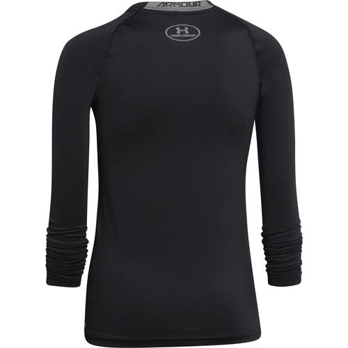 Under Armour Boys' HeatGear Armour Fitted Long Sleeve T-shirt - view number 2