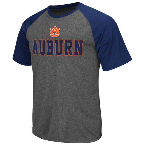 Colosseum Athletics Men's Auburn University Rider Short Sleeve Poly Raglan T-shirt