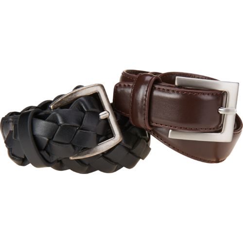 Austin Trading Co.™ Boys' 2-for-1 Dress and Braid Belts 2-Pack
