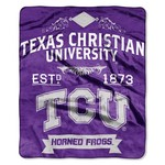The Northwest Company Texas Christian University Label Raschel Throw - view number 1