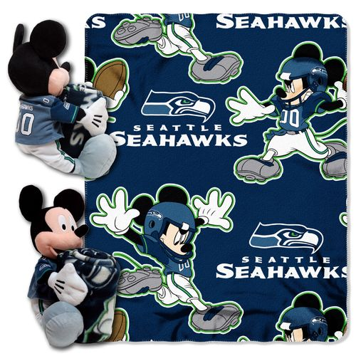 The Northwest Company Seattle Seahawks Minnie Mouse Hugger and Fleece Throw Set