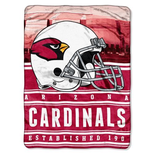 The Northwest Company Arizona Cardinals Stacked Silk Touch Throw