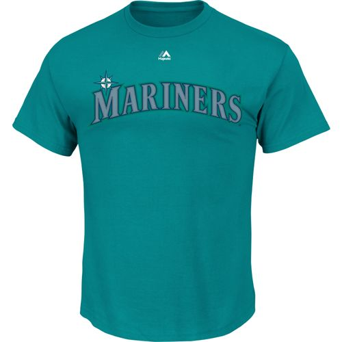 Majestic Men's Seattle Mariners Official Wordmark T-shirt