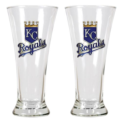 Great American Products Kansas City Royals 19 oz. Pilsner Glasses 2-Pack