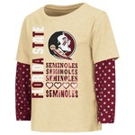 Colosseum Athletics Toddler Girls' Florida State University Super Cool Layered T-shirt