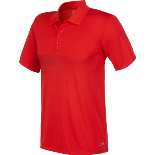 BCG Men's Chest Stripe Tennis Polo Shirt