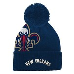 adidas Boys' New Orleans Pelicans Cuffed Knit Cap with Pom