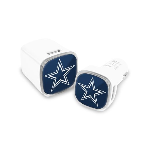 Mizco Dallas Cowboys USB Chargers 2-Pack