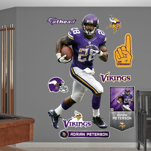 Fathead Minnesota Vikings Adrian Peterson All Day Real Big Wall Decal
