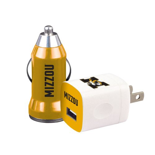 Mizco University of Missouri Home and Away USB Chargers 2-Pack