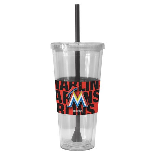 Boelter Brands Miami Marlins Bold Neo Sleeve 22 oz. Straw Tumblers 2-Pack - view number 1