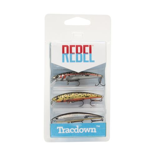 Rebel 2-1/2' Tracdown Ghost Minnow Lures 3-Pack