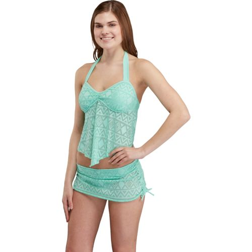O'Rageous® Juniors' Crochet Tankini Top