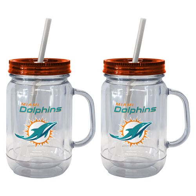 Boelter Brands Miami Dolphins 20 oz. Handled Straw