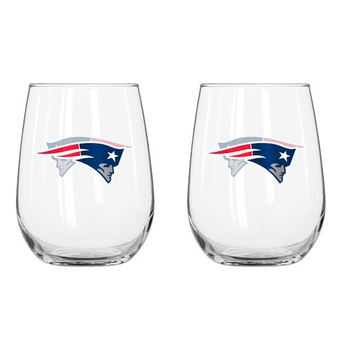 Boelter Brands New England Patriots 16 oz. Curved Beverage Glasses 2-Pack