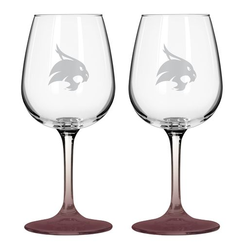 Boelter Brands Texas State University 12 oz. Wine Glasses 2-Pack