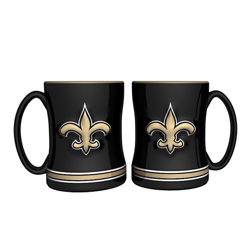 Boelter Brands New Orleans Saints 14 oz. Relief Mugs 2-Pack